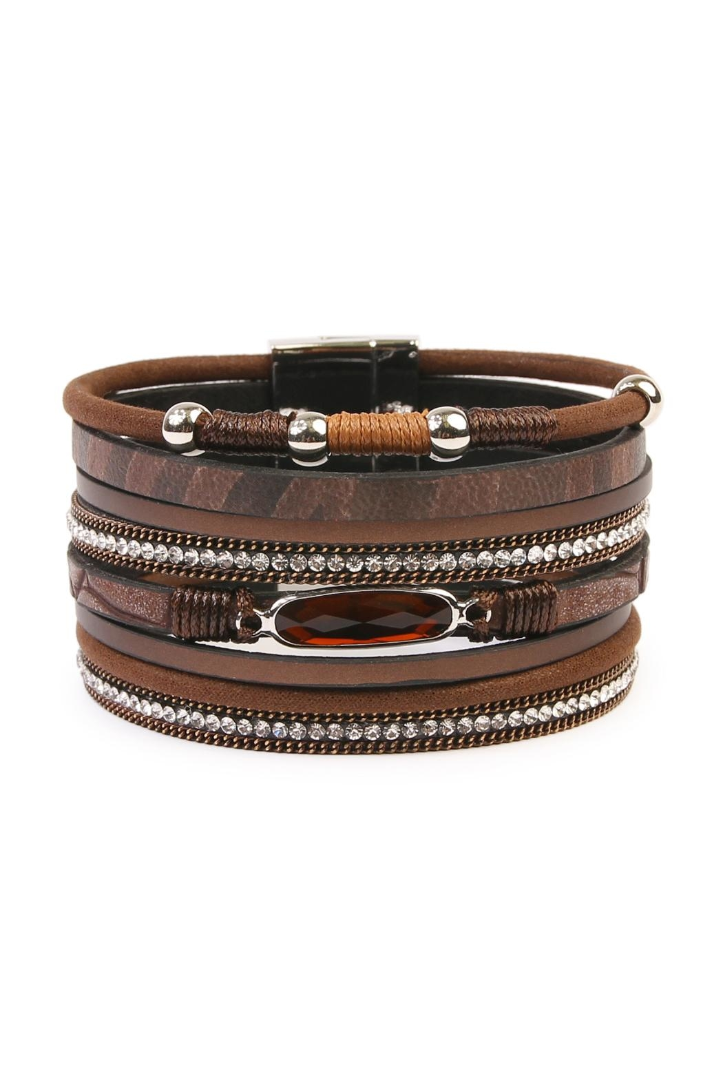 Black leather pearl wrap around fashion bracelet H&M - Fashion and quality at the best price H&M US