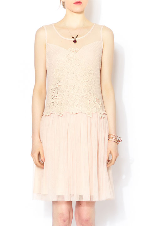 Shoptiques SlideShow Nude Lace Shift