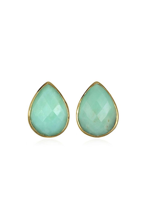 Shoptiques SlideShow Teardrop Studs Chrysophrase