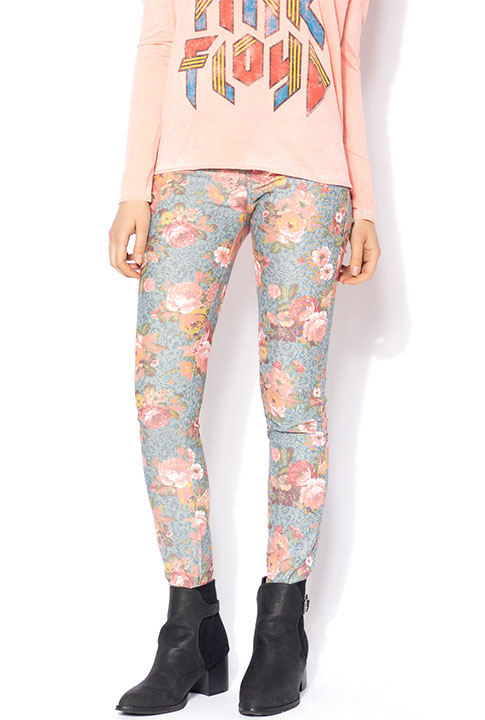 Shoptiques SlideShow Blue Floral Jeggings