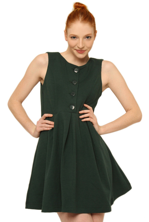 Shoptiques SlideShow Button Down Bodice Dress