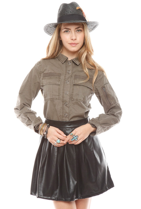 Shoptiques SlideShow Toned Downed Top