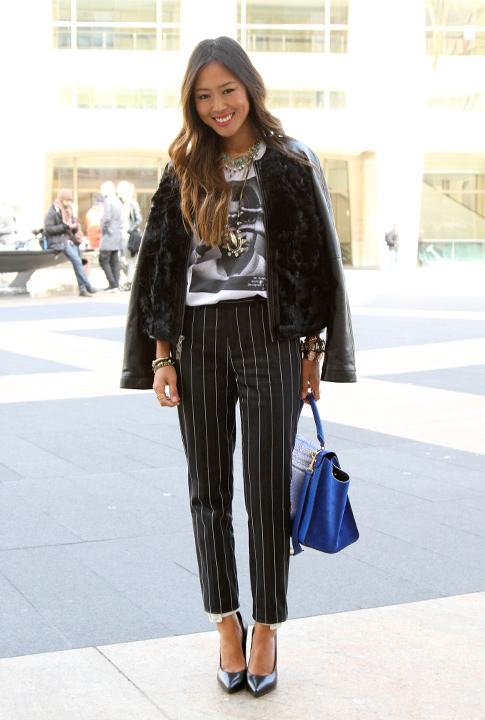 Shoptiques SlideShow Casual Pinstripes