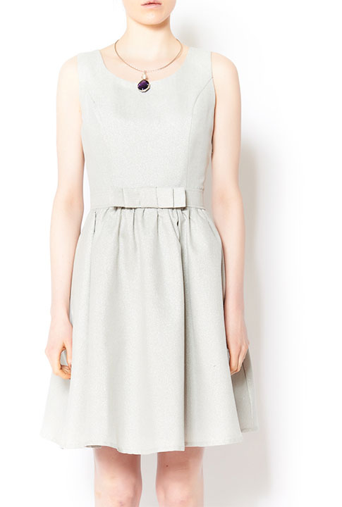 Shoptiques SlideShow Metallic Bow Dress