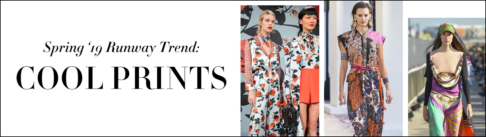 Shoptiques Fashion Trends: Spring'19 Runway Trend: Cool Prints
