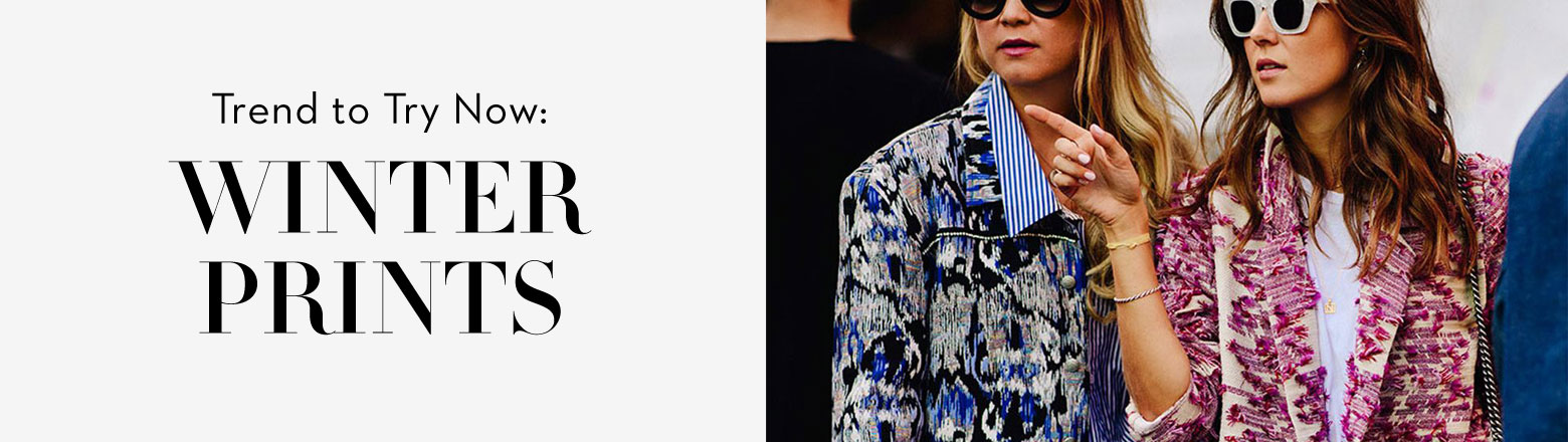 Shoptiques Fashion Trends: Trend to Try Now: Winter Prints
