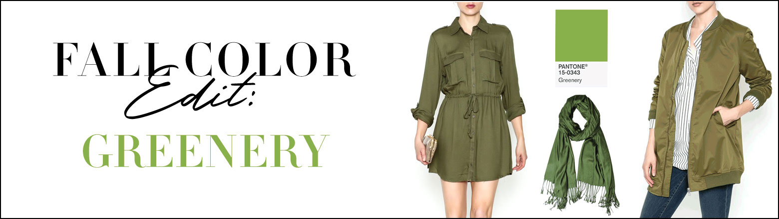 Shoptiques Fashion Trends: Fall Color Edit: Greenery