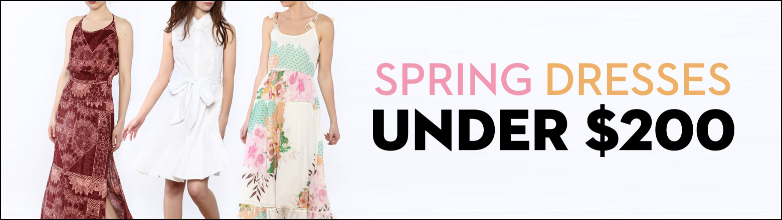 Shoptiques Fashion Trends: Spring Dresses Under $200