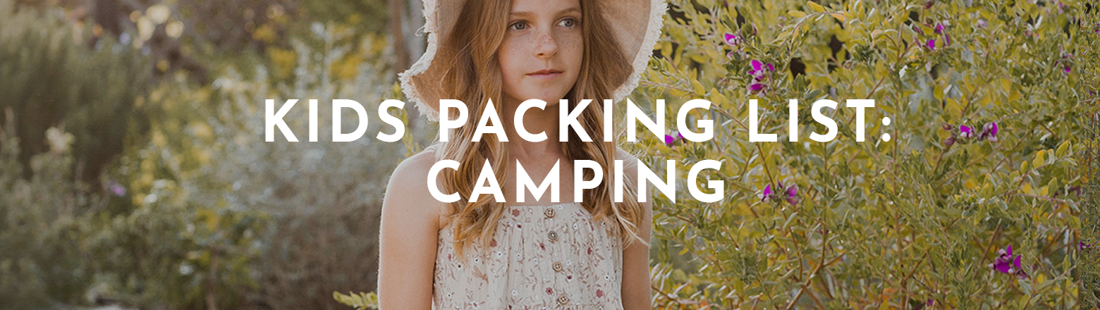 Shoptiques Fashion Trends: Kids Packing List: Camping