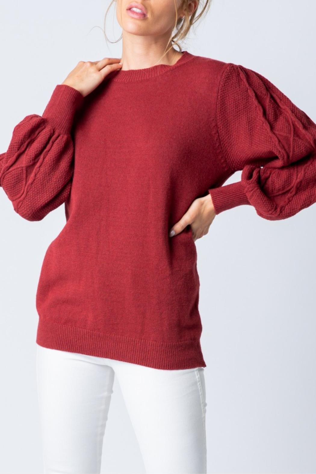 &merci Cable Car Sweater - Side Cropped Image