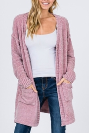 &merci Chenille Cardigan Sweater - Front cropped