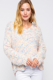 &merci Confetti Color Chenille Scalloped Hem Pullover Knit Sweater Jumper - Other