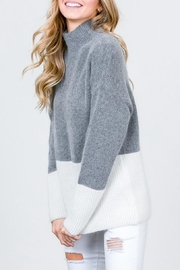 &merci Funnel-Neck Color-Block Sweater - Product Mini Image