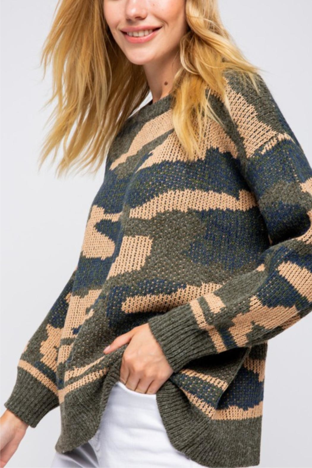 &merci Long Sleeve Camoflauge Pullover - Front Full Image