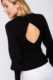 &merci Open Back Bubble Sleeve Sweater - Front cropped