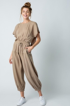 &merci Relaxed Open Back Soft Cotton Gauze Jumpsuit - Product List Image