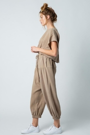 &merci Relaxed Open Back Soft Cotton Gauze Jumpsuit - Side cropped