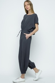 &merci Relaxed Open Back Soft Cotton Gauze Jumpsuit - Front full body