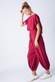 &merci Relaxed Open Back Soft Cotton Gauze Jumpsuit - Other