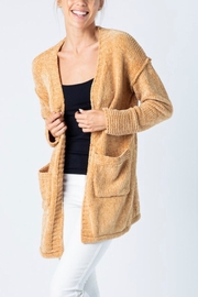 &merci Soft Chenille Cardigan - Front cropped