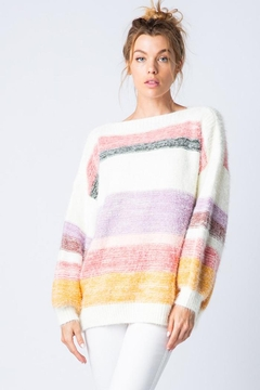 &merci Soft Mohair Oversized Knit Sweater Jumper With Balloon Sleeve - Product List Image