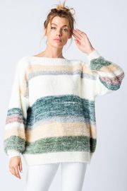 &merci Soft Mohair Oversized Knit Sweater Jumper With Balloon Sleeve - Product Mini Image