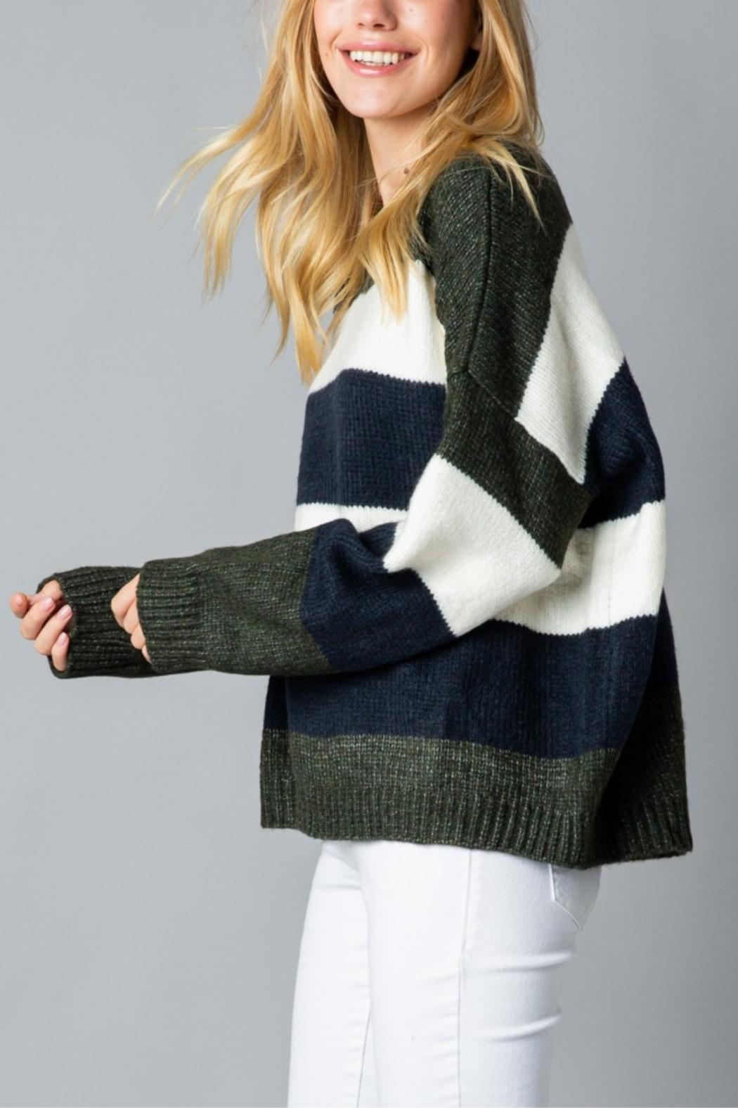 &merci Stormy Seas Sweater - Side Cropped Image