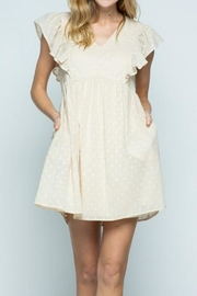 &merci Swiss-Dot Babydoll Dress - Product Mini Image