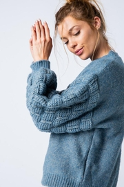 &merci Unique Textured Bubble Sleeve Knit Sweater Jumper - Other