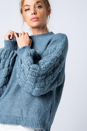 &merci Unique Textured Bubble Sleeve Knit Sweater Jumper - Side cropped