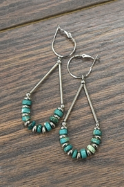 "0.25""-Heishi Natural-Turquoise Earrings"