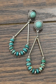 "0.3""-Heishi Natural-Turquoise Post-Earrings"