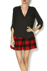 Lush Black Collarless Blouse - Product Mini Image
