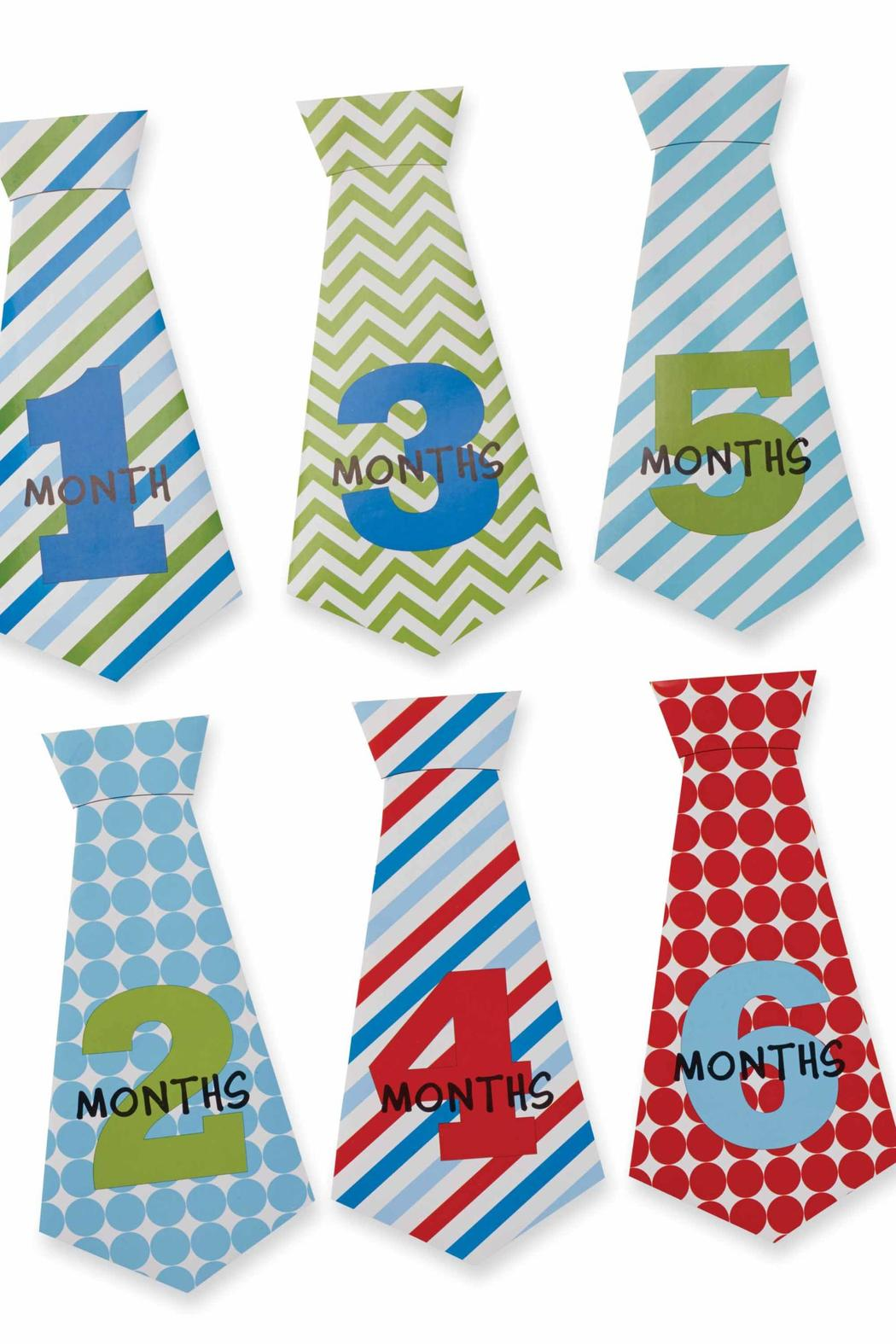 Mud Pie Boy Monthly Ties - Side Cropped Image