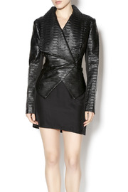 Katherine Barclay Textured Faux Leather Jacket - Product Mini Image