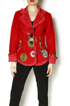 Shoptiques Product: Red Blazer With Appliques