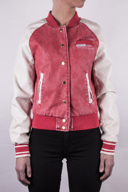 Members Only Washed Varsity Jacket - Front full body
