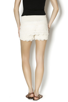 MUSA Ivory Crochet Shorts - Alternate List Image