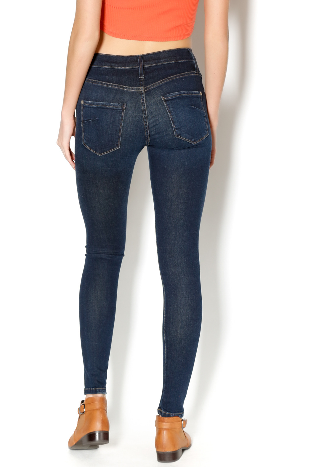 James Jeans Pirouette Twiggy Dancer Denim - Back Cropped Image