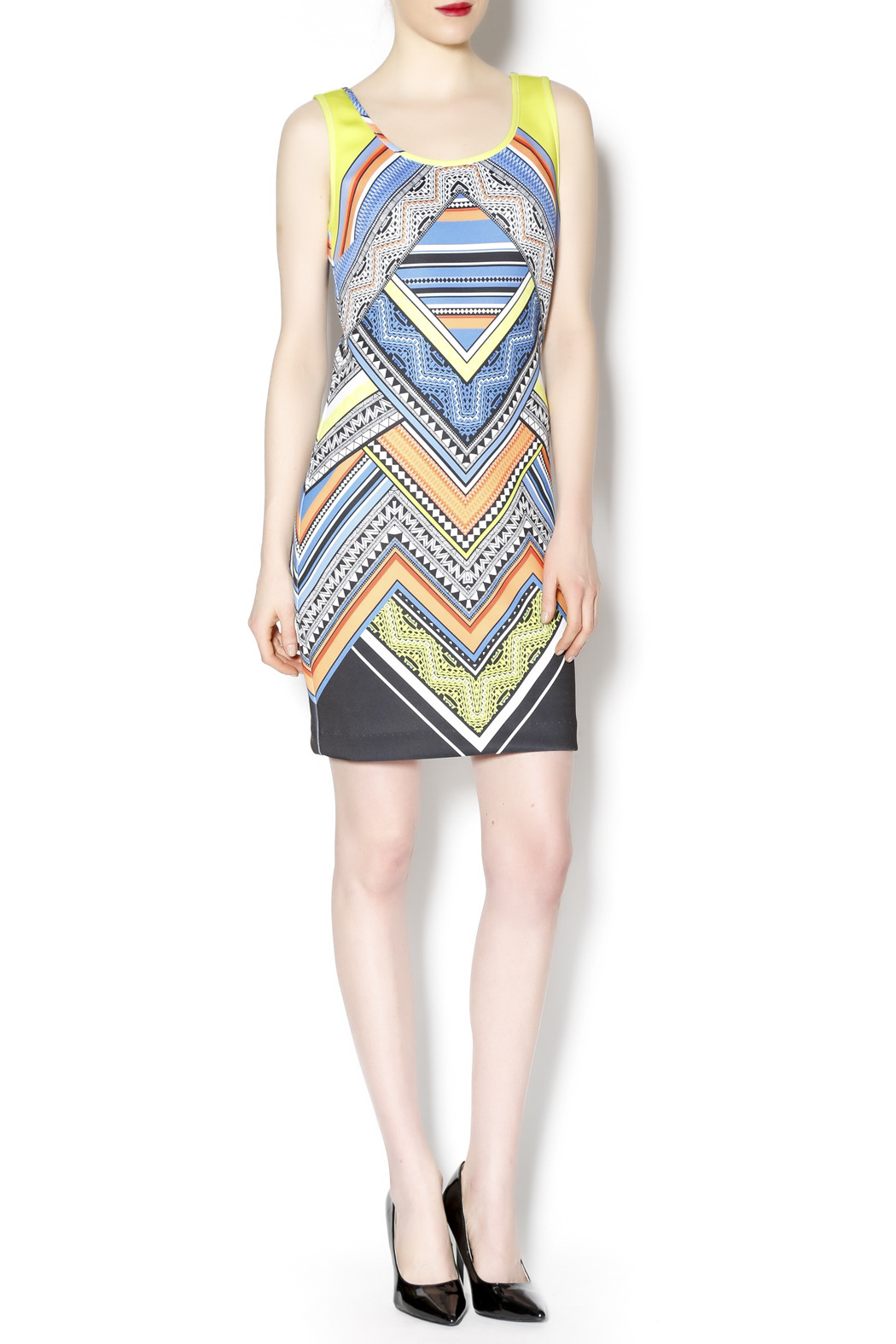 Laundry multicolored tank dress - Front Full Image