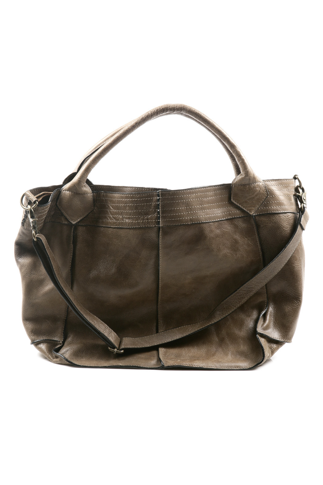 NU New York Pleated Leather Bag - Front Cropped Image