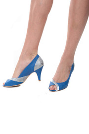 Petite Mendigote Blue and Silver Heels - Other