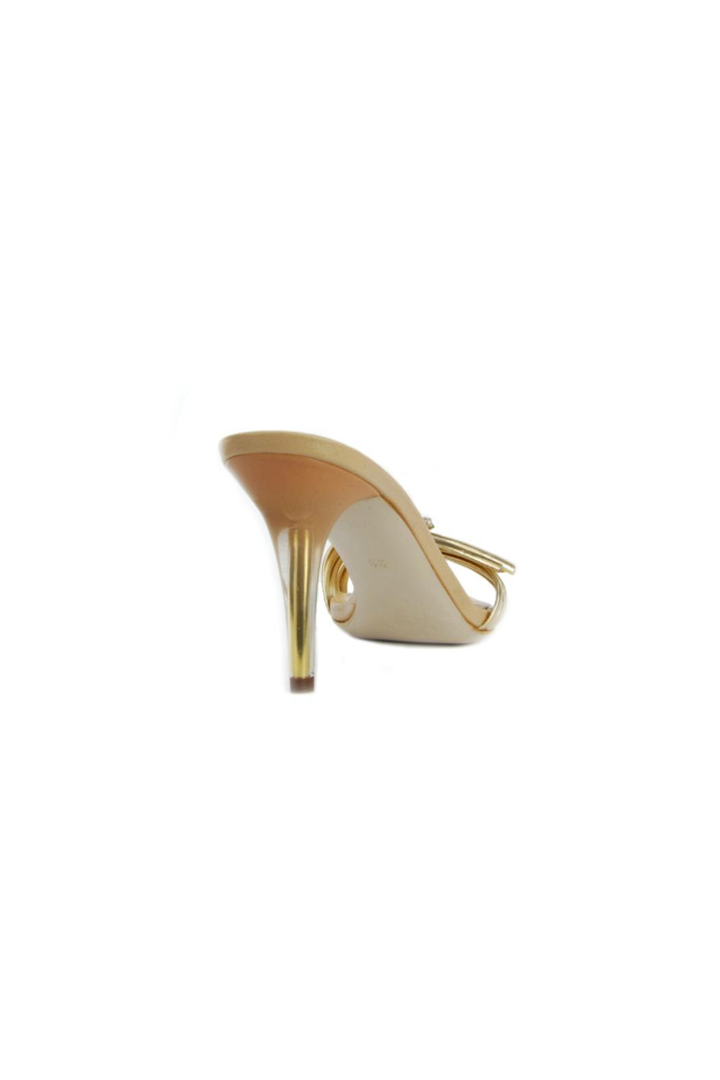 Luis Onofre Gold & Swarovski Mule - Side Cropped Image