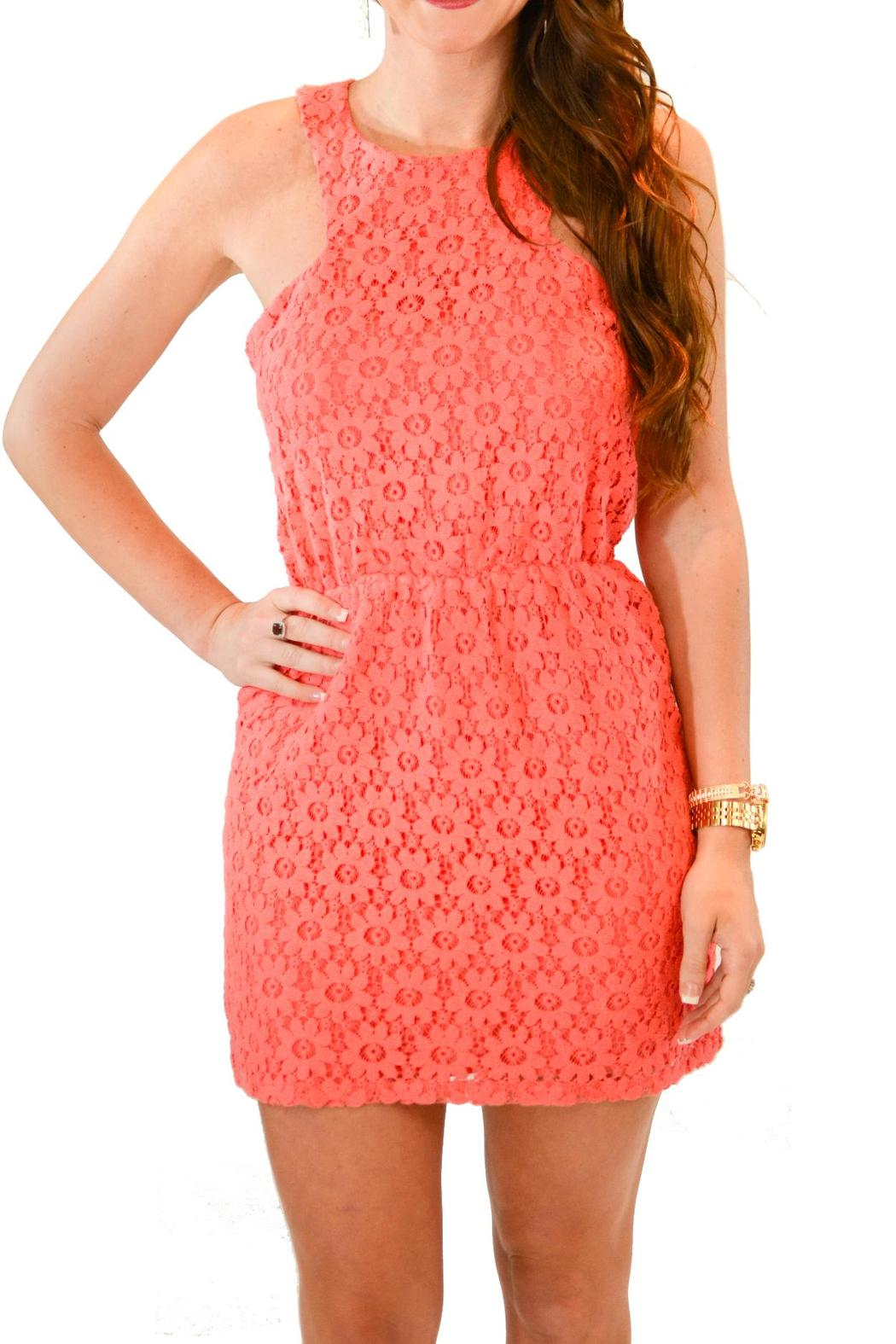 lucca coral lace dress from louisiana by yipsy boutique