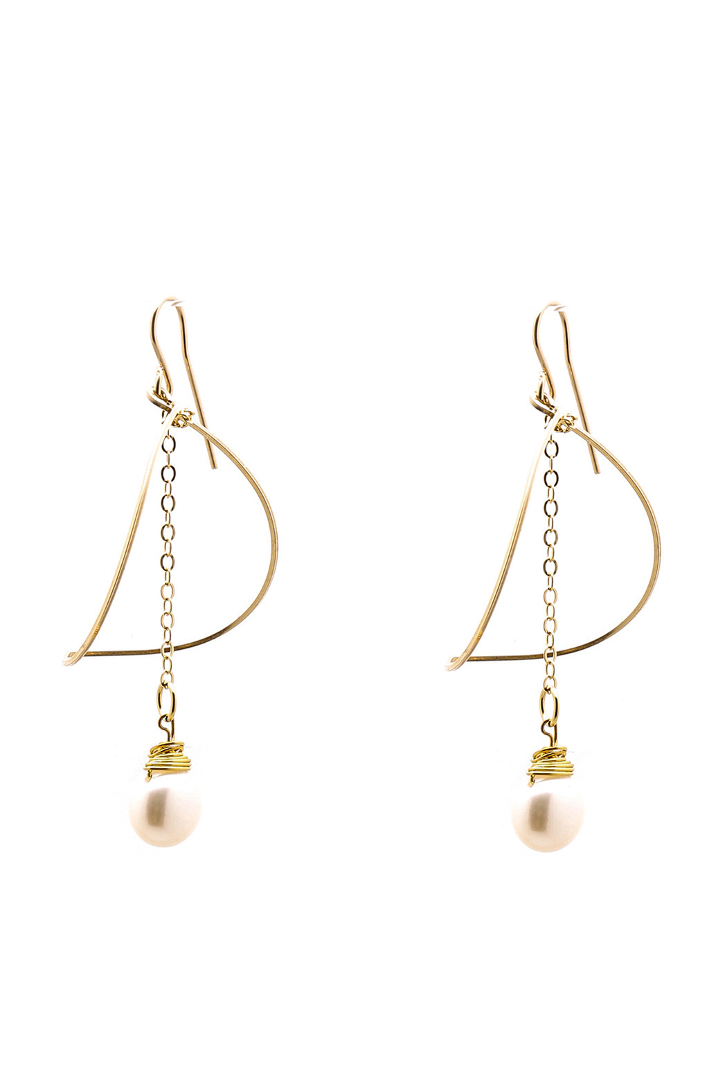 ZIA Boutique Luna Gold Earrings - Front Cropped Image