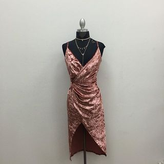 Shoptiques Draped Velvet Dress