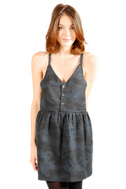 Mimi's Beer Spaghetti Strapped V-Neck Dress - Front cropped