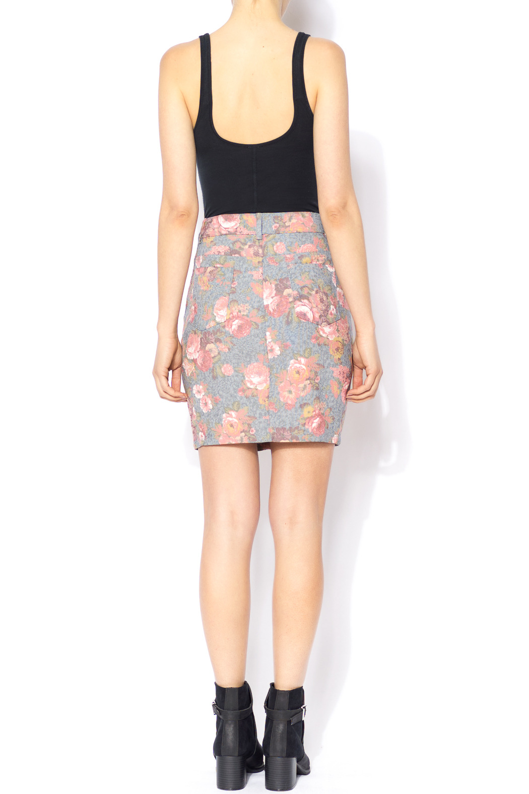 lucca couture floral denim skirt from by cotone