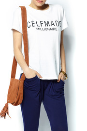 Madison Square Clothing Celfmade Millionaire White Tee - Front cropped
