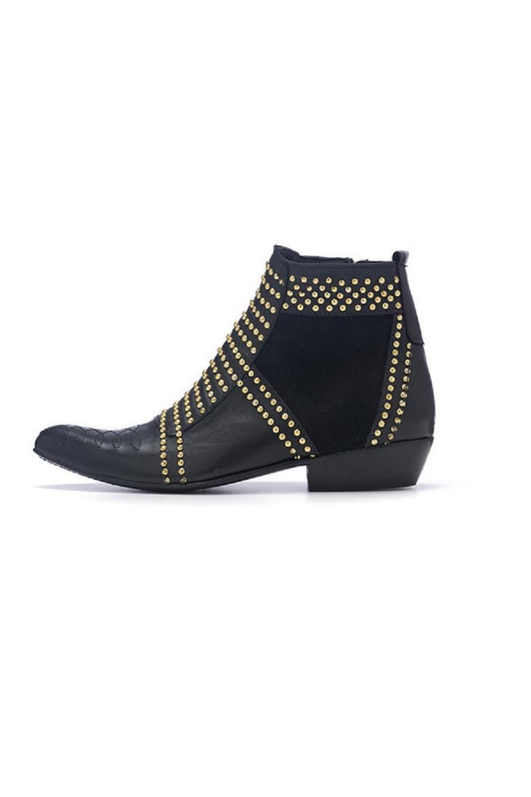 Anine Bing Black-Studded Ankle Boot - Main Image